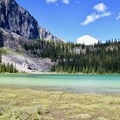 Tower Lake and its fantastic green color.- Tower Lake + Rockbound Lake
