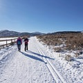 Passing alongside the National Ability Center.- Round Valley Trails, Quinn's Trailhead