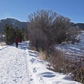 Hiking the North Basin Trails in winter.- North Basin Trails, Woods Trailhead