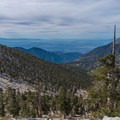 Looking toward the valley. - San Gorgonio via Momyer Creek Trail + Vivian Creek Trail