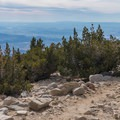 Looking toward the valley.- San Gorgonio via Momyer Creek Trail + Vivian Creek Trail
