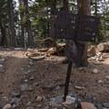 Junction with another trail toward San Bernardino.- San Gorgonio via Momyer Creek Trail + Vivian Creek Trail