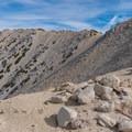 Toward the summit of San Gorgonio.- San Gorgonio via Momyer Creek Trail + Vivian Creek Trail