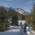 Skinning in the Aneroid Lake basin.- Aneroid Lake Ski Tour