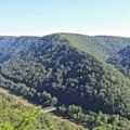 Miller's Folly can be seen from above.- Lower New River Gorge: Cunard to Fayette Station
