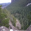 Steep cliff dropping off of Little Si.- Little Si