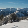 If you're lucky enough to safely gain Wing Ridge, you'll be greeted dramatic views of the Wallowas. - Wing Ridge