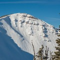 Pyramid Peak holds some big lines for advanced skiers. - Wing Ridge