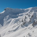 North/northeast-facing slopes tend to hold good snow even into the spring.- Table Mountain