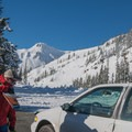 The Sunrise lot provides overnight parking and easy scouting for the day's objective.- Table Mountain