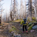 In the spring there is often some boot hiking for the first mile or two.- Mount Adams: Southwest Chutes