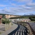 Path to Denali State Park Entrance. - Nenana Canyon Rest Area