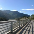 Looking north from the midpoint on the pedestrian bridge.- Nenana Canyon Rest Area