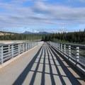 Looking south across the bridge toward the Denali State Park entrance. - Nenana Canyon Rest Area