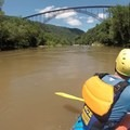 Rafting under the New River Gorge Bridge.- Lower New River Gorge: Cunard to Fayette Station