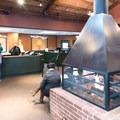 The reception area at Winter Lodge in Palo Alto.- Winter Lodge