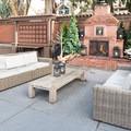 Winter Lodge offers abundant and comfortable outdoor seating.- Winter Lodge