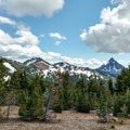 View of Mount Thielsen from the trail.- Tipsoo Peak Hike