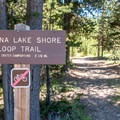 Lake Trail access from the campground.- Paulina Lake Campground