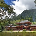 The Byodo-In Temple in Valley of the Temples Memorial Park.- The Byodo-In Temple