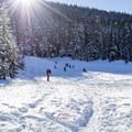 Salt Creek Sno-Park sledding hill.- Salt Creek Sno-Park