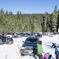 Salt Creek Sno-Park parking area.- Salt Creek Sno-Park