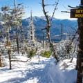Summit sign on Seymour Mountain.- Seymour Mountain