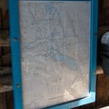Trail map in the Westview Shelter.- Westview Shelter