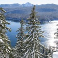 Odell Lake in the Willamette National Forest.- Odell Overlook Trail