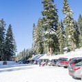 Parking area in the Gold Lake Sno-Park.- Diamond View Loop