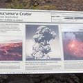 Signs on site convey a history of activity in this crater.- Jaggar Museum + Overlook