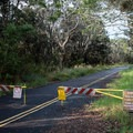 This portion of Crater Rim Drive is closed to automobiles, but the park service allows foot traffic all the way to Keanakāko'i Crater.- Keanakāko'i Crater Hike