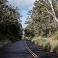 This hike follows the closed Crater Rim Drive for its entire length.- Keanakāko'i Crater Hike