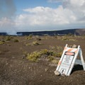 The terrain on both sides of the road is off limits.- Keanakāko'i Crater Hike