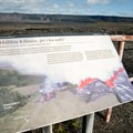 A sign at the site describes the dramatic eruption in 1974 that closed the road.- Keanakāko'i Crater Hike