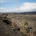 An off-road walking area on the Kīlauea side of the road allows for a closer look at the landscape.- Keanakāko'i Crater Hike