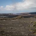 The steaming Halemaʻumaʻu Crater in the Kīlauea Caldera.- Keanakāko'i Crater Hike