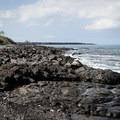 The rocky shore of Kīholo Bay State Park Reserve.- Kīholo State Park Reserve
