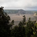 The Kīlauea Iki Crater visible from the lookout at the beginning of the hike.- Kīlauea Iki Trail