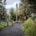 Junctions are well signed.- Kīlauea Iki Trail