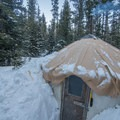 Yurts are available to rent through Wallowa Alpine Huts.- McCully Basin Ski Tour
