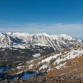 Looking west into Aneroid Basin.- McCully Basin Ski Tour