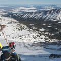 A steep bootpack will get you to the summit of Aneroid Peak.- McCully Basin Ski Tour