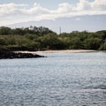 Mau'umae Beach from the Ala Kahakai National Historic Trail, which provides an alternate approach.- Mau'umae Beach