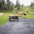 A typical site at Nāmakanipaio Campground.- Nāmakanipaio Campground + Cabins