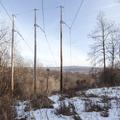 Crossing under wires.- Joppenbergh Mountain