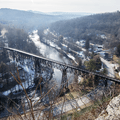 The Rondout Creek and Wallkill Valley Rail Trail.- Joppenbergh Mountain
