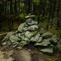 Cairn on the summit of Galehead Mountain.- North Twin, South Twin + Galehead Mountains