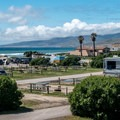The campground is right on the beach.- Jalama Beach Campground