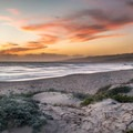 Sunset on Jalama Beach.- Jalama Beach Campground